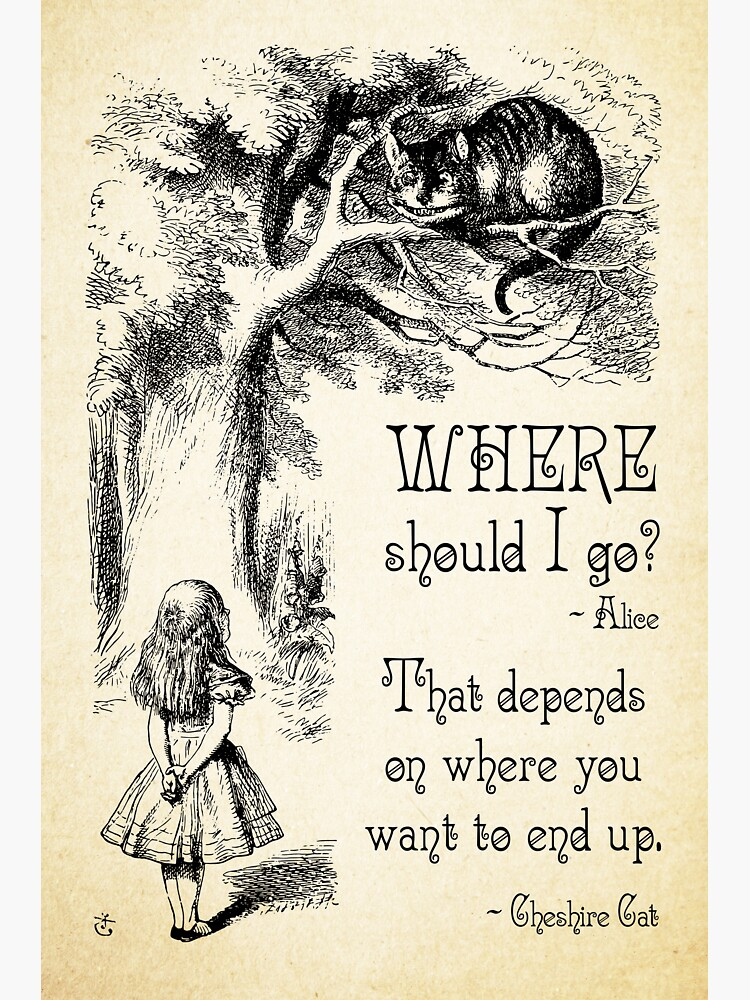 Alice in Wonderland - Cheshire Cat Quote - Where Should I go? - 0118 by ContrastStudios