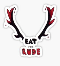 Hannibal - Eat The Rude Bloody Antlers Sticker