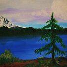 Mountain Lake & Rainier by Tori Snow