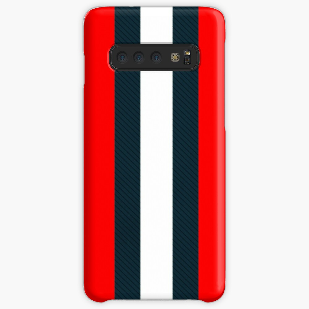 Red White Vertical Pattern Stripes Case & Skin for Samsung Galaxy