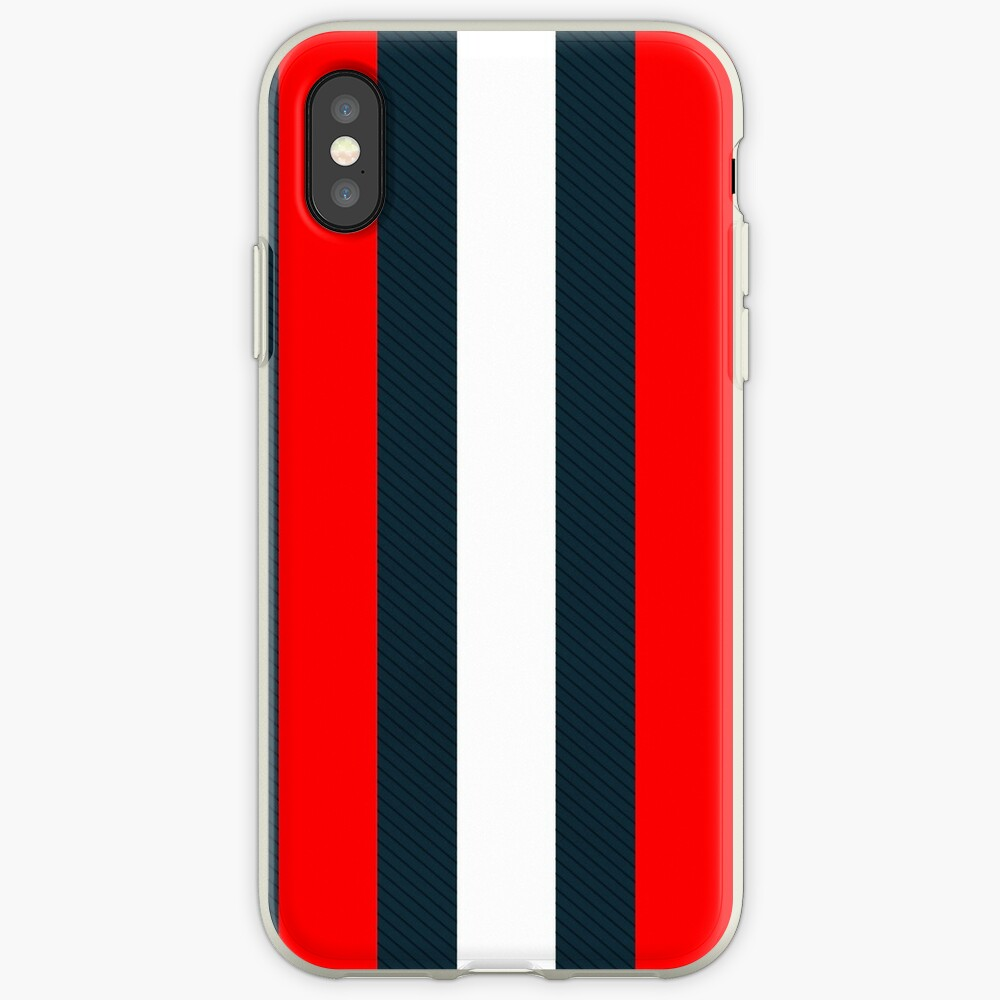 Red White Vertical Pattern Stripes iPhone Case & Cover