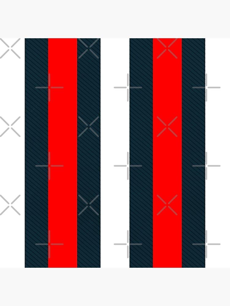 Red White Vertical Pattern Stripes by IchGebWas