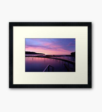 Sunrise - Malabar Baths Framed Print