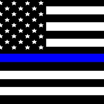 Police Blue Line Flag by sweetsixty