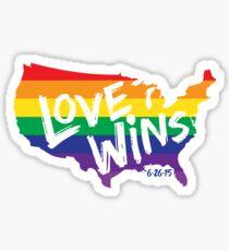 Liebe gewinnt Erinnerungskunst Sticker