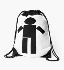 NT Man - White Drawstring Bag