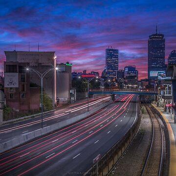 I-90 into Boston by mattmacpherson