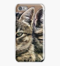 mother and child wild cats iPhone Case/Skin