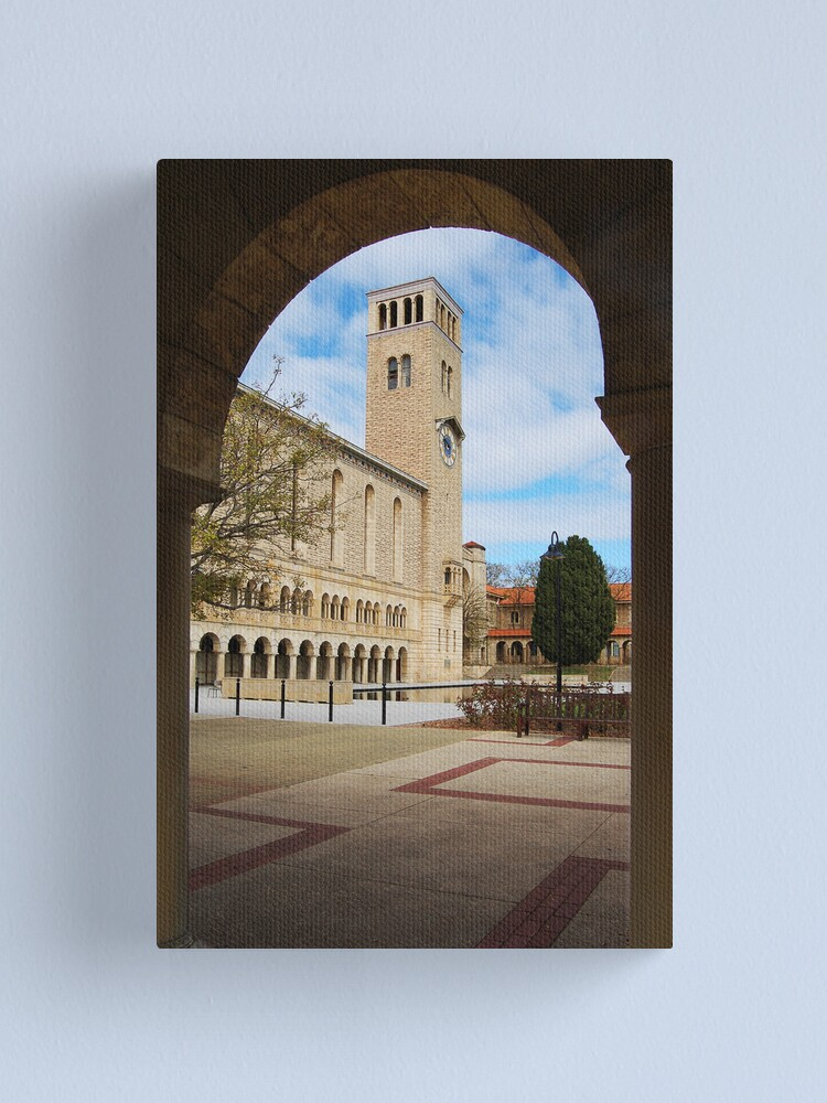 Alternate view of Winthrop Hall Through An Arch Canvas Print