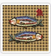 Pegatina Antique Japanese Fish Brooch