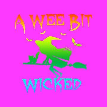(tshirt) A Wee Bit Wicked (horizontal rainbow) by KaylinArt