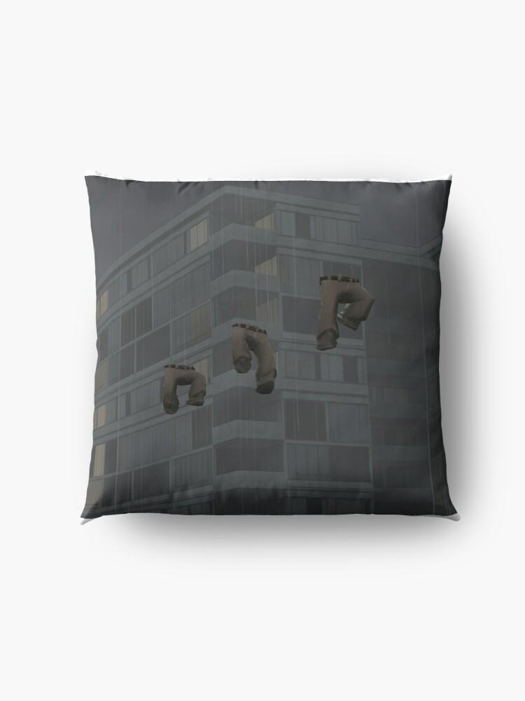 Alternate view of Flying trousers in the rain Floor Pillow