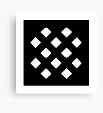 """Unicode Character """"▩"""" (U+25A9) ▩ Name: Square with Diagonal Crosshatch Fill Canvas Print"""
