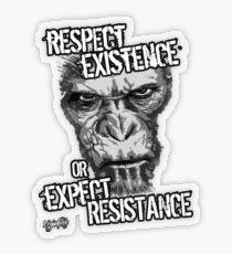 VeganChic ~ Respect Existence Transparent Sticker