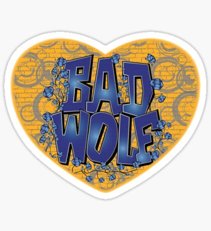 Love The Bad Wolf (Light colours) Sticker