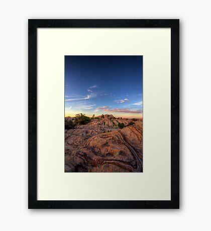 Runway Rock Framed Print