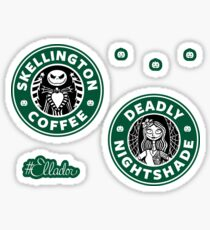 Jack and Sally Coffee Mini Sticker Pack Sticker