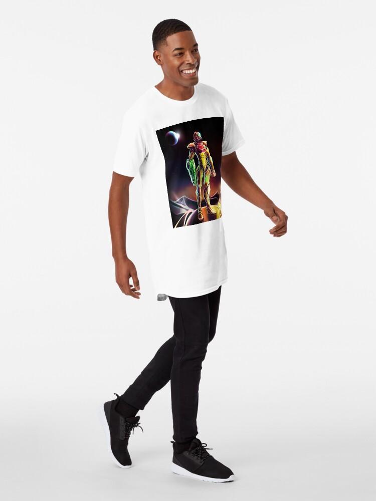 Vista alternativa de Camiseta larga Samus Power Suit