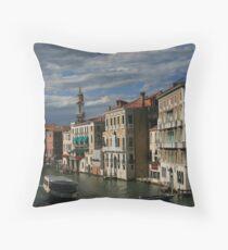 Venice - Vaporetto Throw Pillow