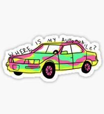 Wo ist mein Auto? Sticker