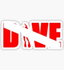 DIVE with scuba diver Sticker