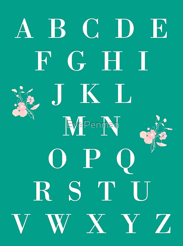 English Alphabet with Flowers by EvePenman