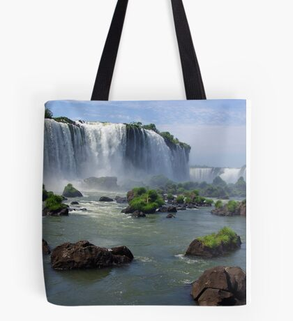 At the edge of the Devil's Throat Tote Bag