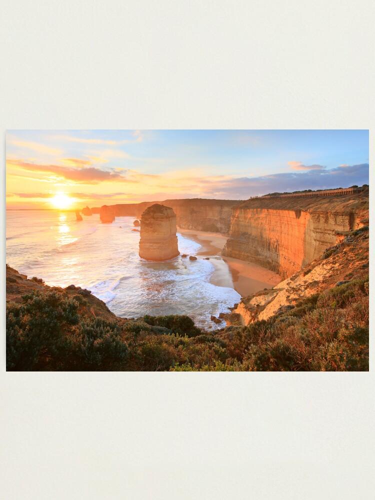 Alternate view of Twelve Apostles Sunset, Great Ocean Road, Australia Photographic Print