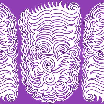 Triumphant Triplets - Purple Pattern  by KazM