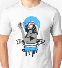 VENEER BE THY NAME BLUE Slim Fit T-Shirt