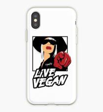 VeganChic ~ Live Vegan iPhone Case