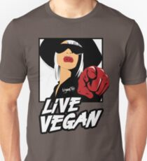 VeganChic ~ Live Vegan Slim Fit T-Shirt