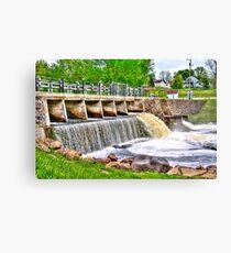 Dam on Crawfish River Canvas Print