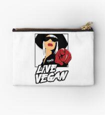VeganChic ~ Live Vegan Zipper Pouch