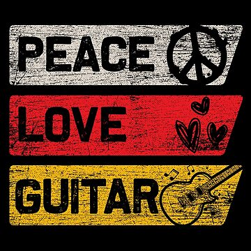 Guitar peace by GeschenkIdee