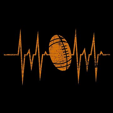 Football heartbeat by GeschenkIdee