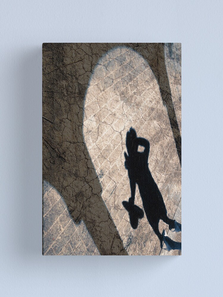 Alternate view of Shadow On The wall Textured Canvas Print