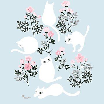 patterns Everyday | Cats in the Garden by jjsgarden