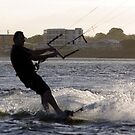 Silhouette Kite Surfer by bygeorge
