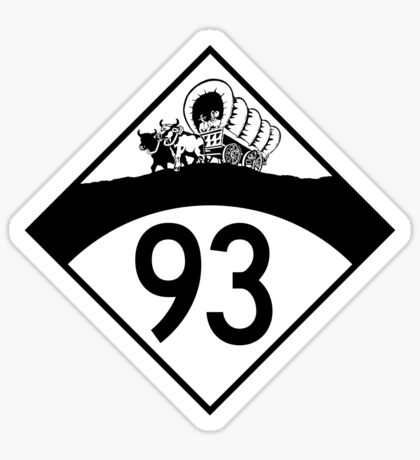 ninety-three: the retro t-shirt Sticker