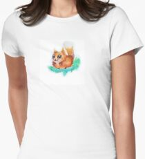 Thick cute squirrle Womens Fitted T-Shirt