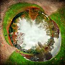 Autumn at East Riddlesden Hall - Wormhole2 by Lucy Martin