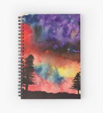 Trees in dark Spiral Notebook