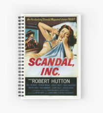 Classic Movie Poster - Scandal, Inc Spiral Notebook
