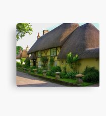 Wherwell Cottages (2) Canvas Print