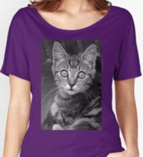 cats - Chat 2  N & B h) by Olao-Olavia / Okaio Créations  by fz 1000 2014 Women's Relaxed Fit T-Shirt