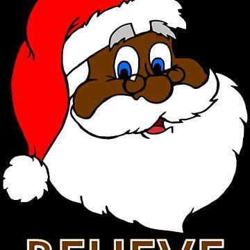 Black Santa BELIEVE by NovaPaint