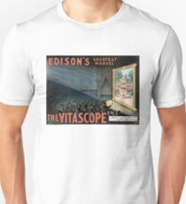 Edisons greatest marvel The Vitascope Restored Vintage Poster Unisex T-Shirt