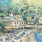 San Fruttuoso, Portofino by Luca Massone  disegni