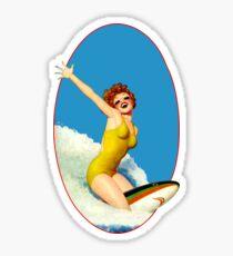 Pegatina Vintage Surfer